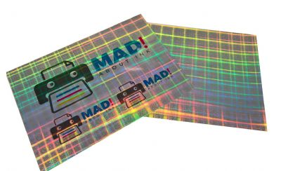 A4 Hologram Sparkle Adhesive Inkjet Film 5 Sheets